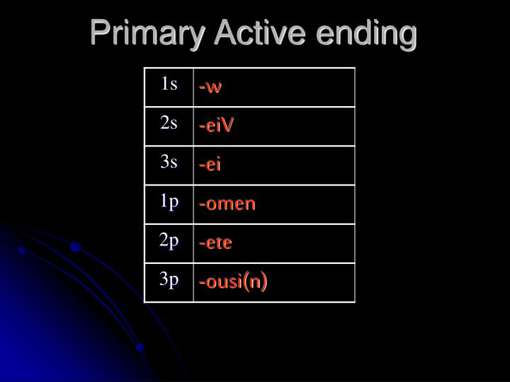 Primary Active ending