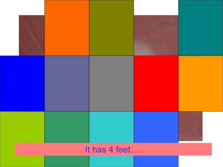 It has 4 feet….