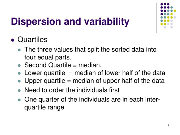 Dispersion and variability