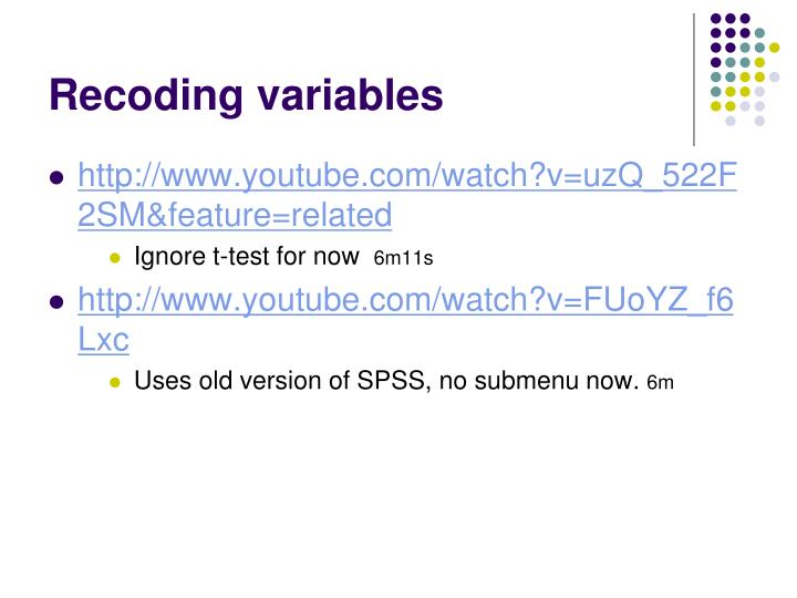 Recoding variables