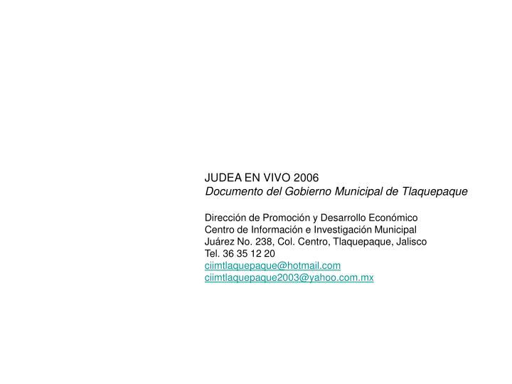 JUDEA EN VIVO 2006