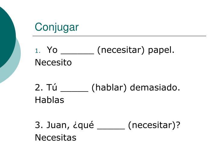 Conjugar