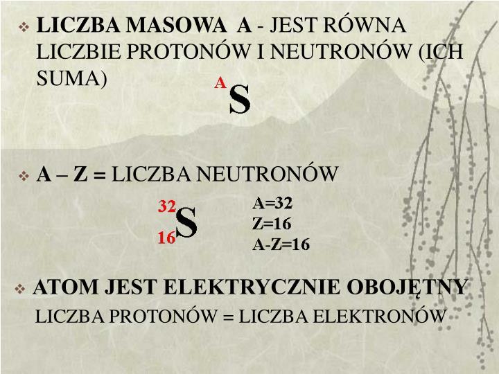 LICZBA MASOWA  A