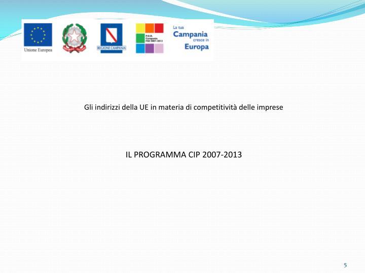Gli indirizzi della UE in materia di competitività delle imprese
