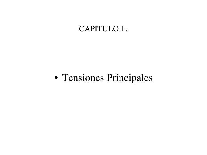 CAPITULO I :