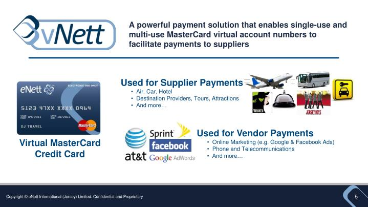 A powerful payment solution that enables single-use and multi-use MasterCard