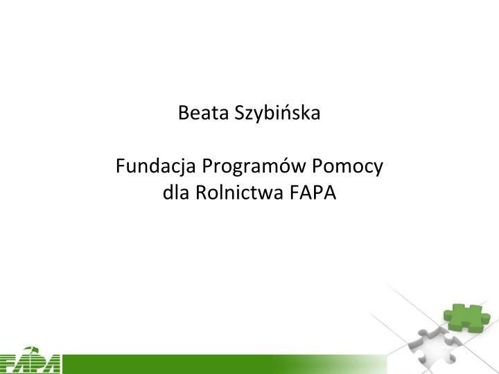 Beata Szybińska