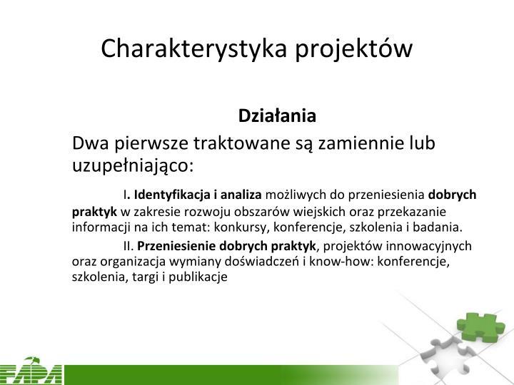 Charakterystyka projektów