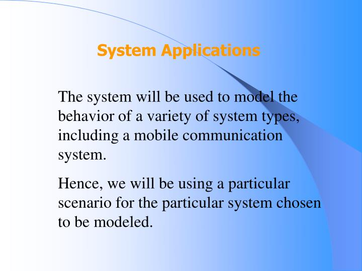 System Applications