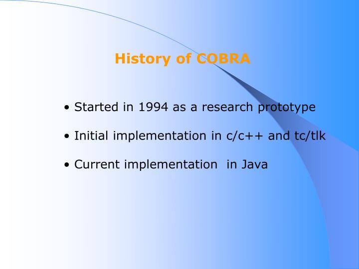 History of COBRA