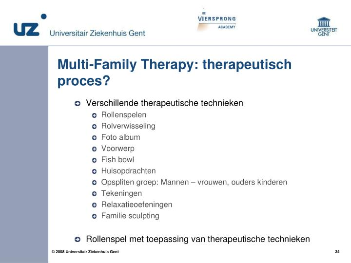 Multi-Family Therapy: therapeutisch proces?