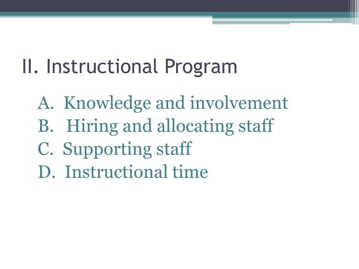 II. Instructional Program