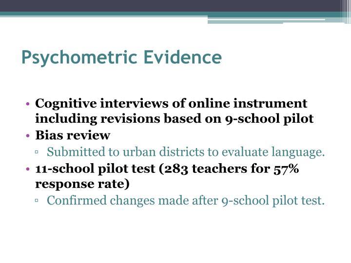Psychometric Evidence