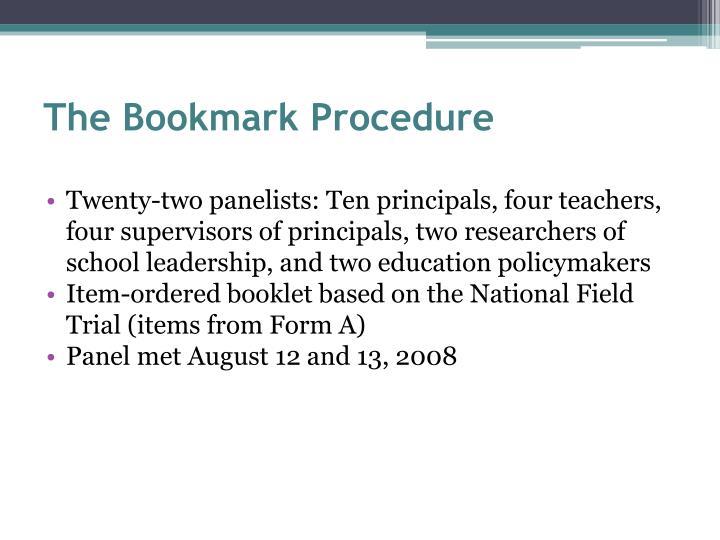The Bookmark Procedure