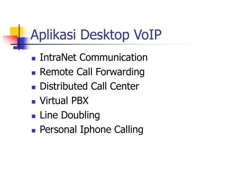 Aplikasi Desktop VoIP