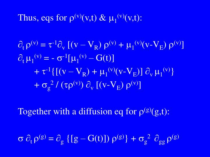 Thus, eqs for 