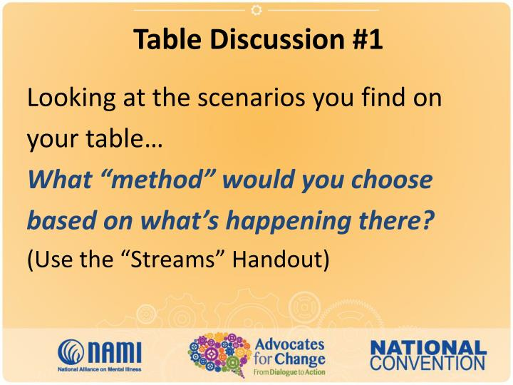 Table Discussion #1