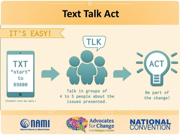 Text Talk Act