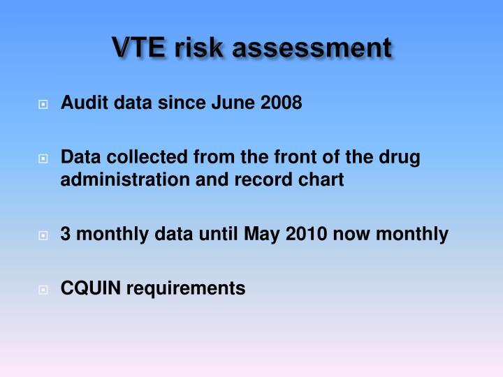 VTE risk assessment