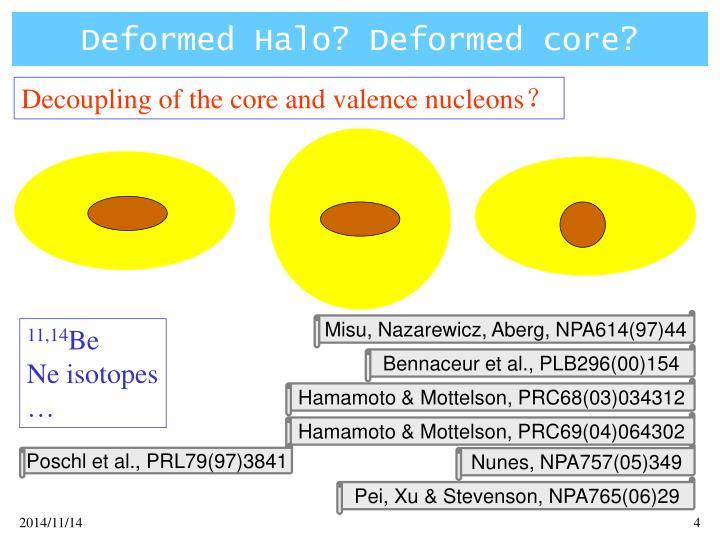 Deformed Halo? Deformed core?