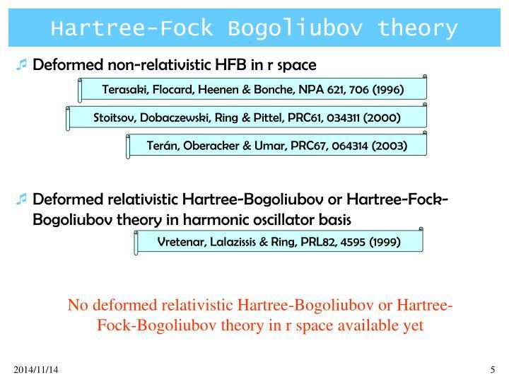 Hartree-Fock Bogoliubov theory