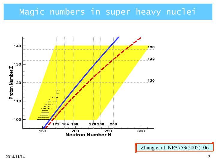 Magic numbers in super heavy nuclei