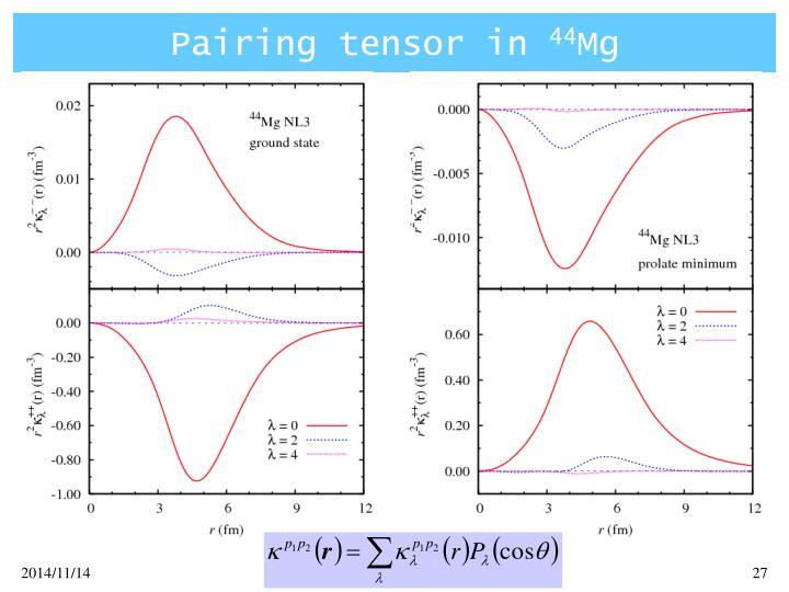 Pairing tensor in