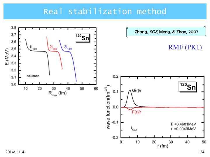 Real stabilization method