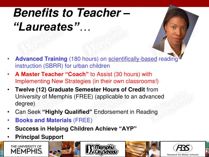 "Benefits to Teacher – ""Laureates"""