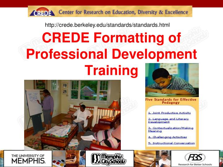 CREDE Formatting of