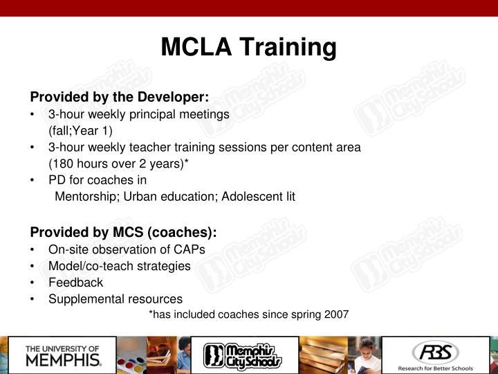 MCLA Training