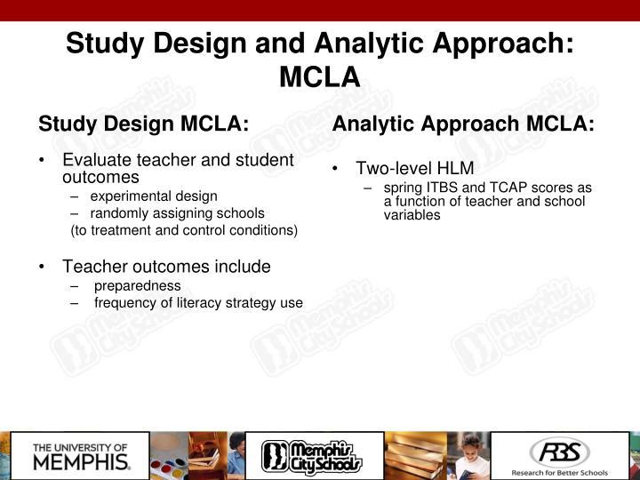 Study Design MCLA: