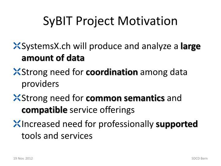 SyBIT Project Motivation