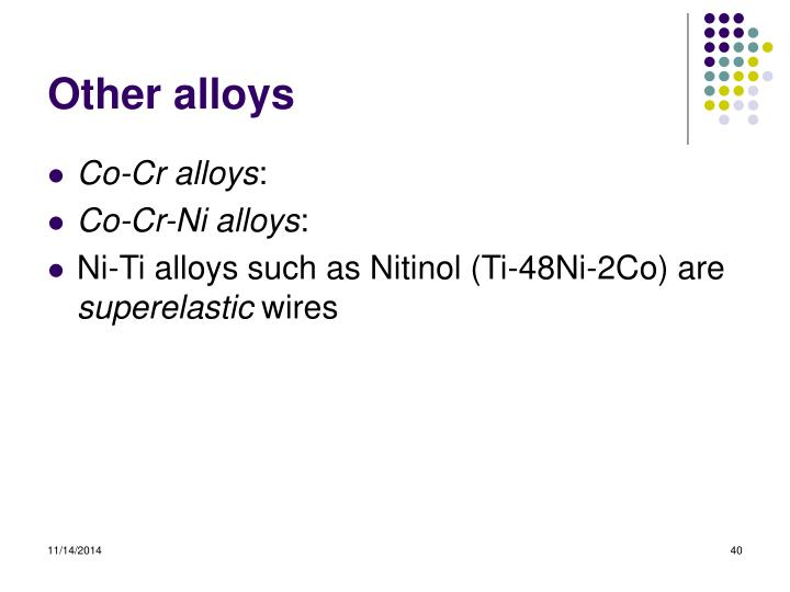 Other alloys