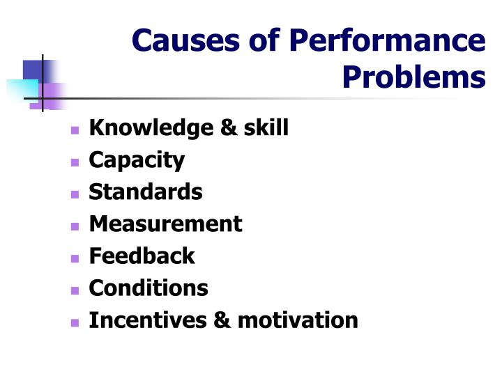 Causes of Performance Problems