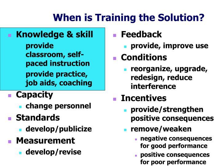 Knowledge & skill