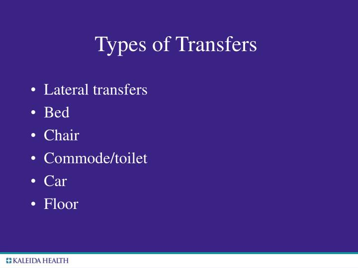 Types of Transfers