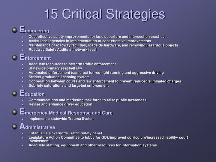 15 Critical Strategies