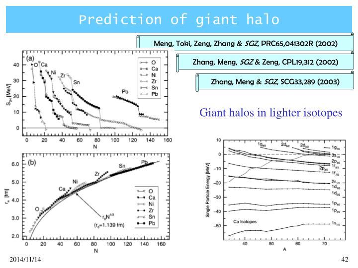 Prediction of giant halo
