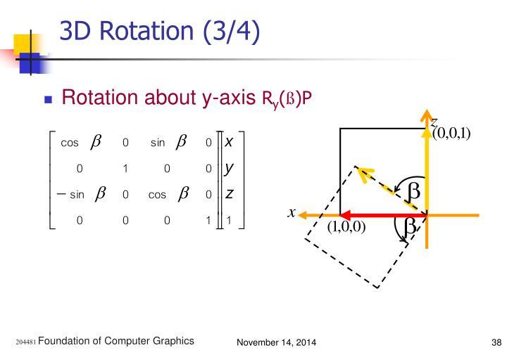 3D Rotation (3/4)
