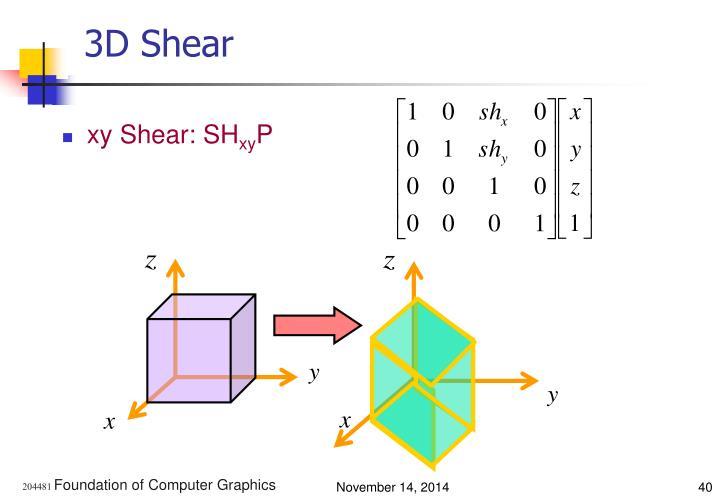 3D Shear