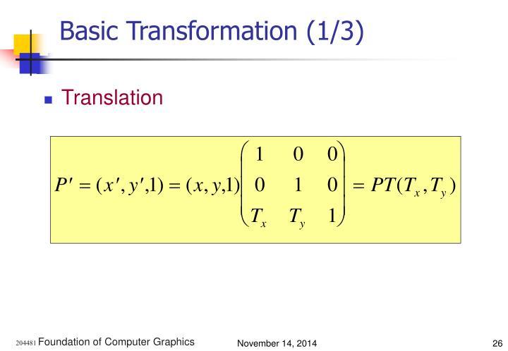 Basic Transformation (1/3)