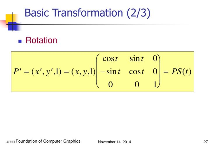 Basic Transformation (2/3)