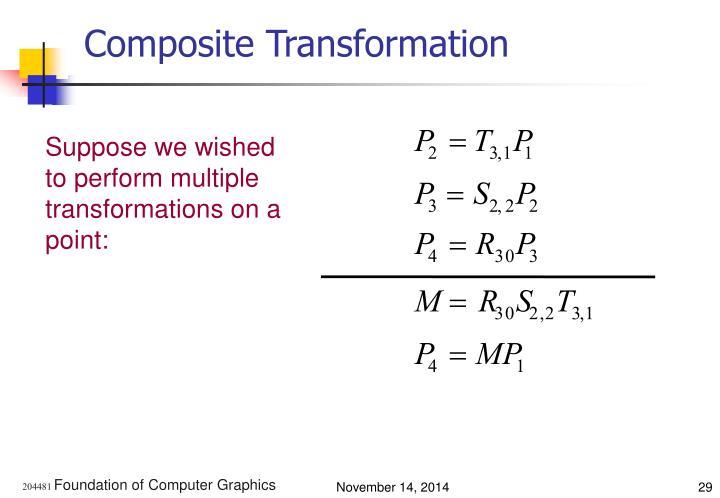 Composite Transformation