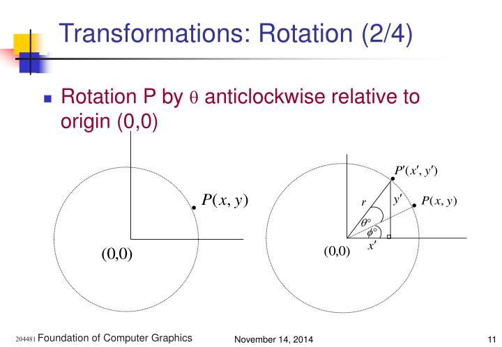 Transformations: Rotation (2/4)
