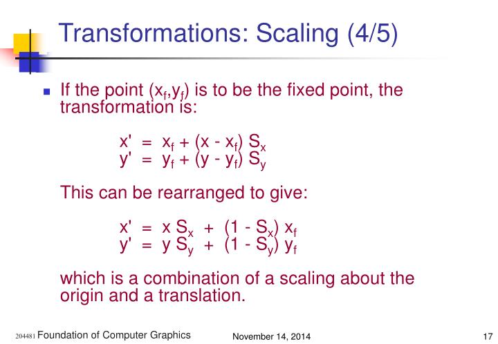 Transformations: Scaling (4/5)