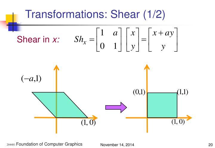 Transformations: Shear (1/2)