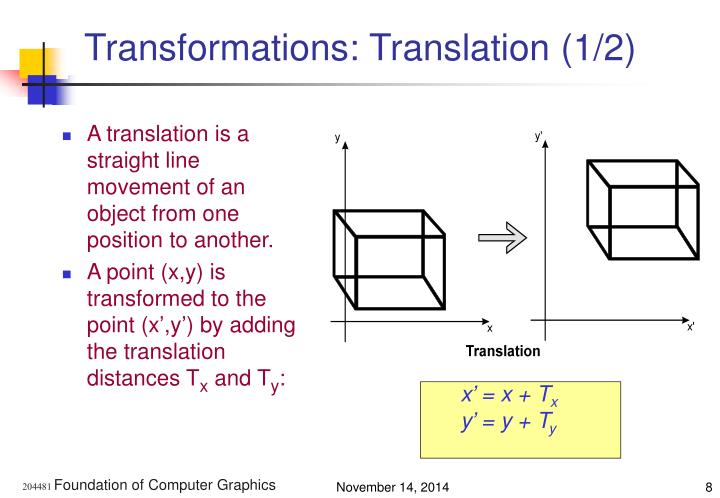 Transformations: Translation (1/2)