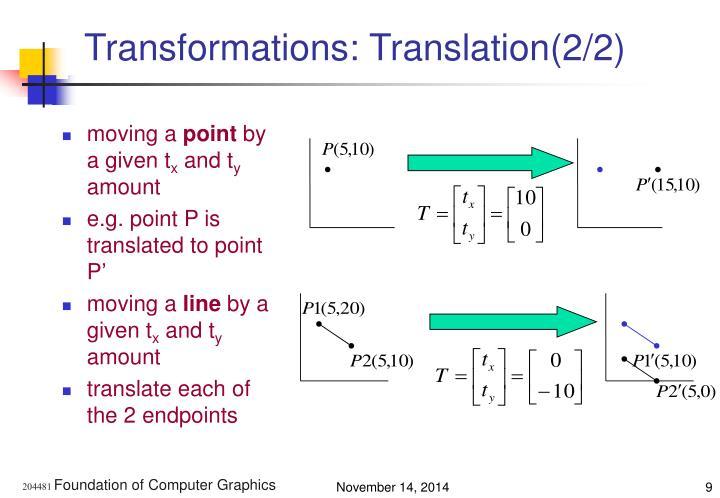Transformations: Translation(2/2)