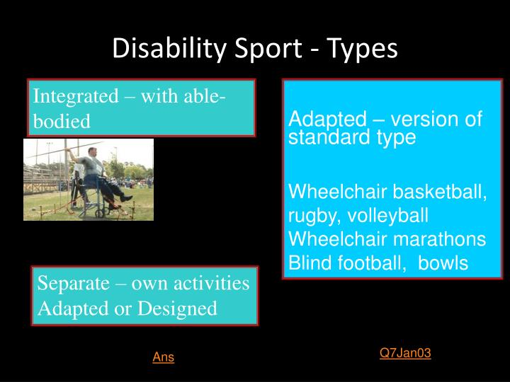 Disability Sport - Types